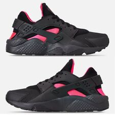 NIKE AIR HUARACHE RUN MEN's RUNNING BLACK - ANTHRACITE - SOLAR RED AUTHENTIC NEW