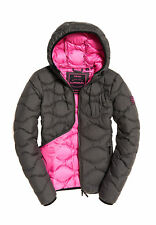 Superdry Chaqueta Mujer Astrae Quilt Acolchada Chaqueta Gris Oscuro