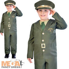 WW2 Soldier Boys Fancy Dress Military Army Wartime 30s 1940s Kids Childs Costume