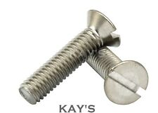 M3 SLOTTED COUNTERSUNK MACHINE SCREWS A2 STAINLESS STEEL SLOT HEAD CSK BOLTS