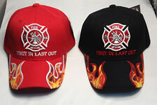 Fire Department Ball Cap FireFighter Rescue FIRST IN LAST OUT Dept Fireman  Hat