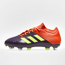 9d69c0d4c594 adidas Mens Malice Elite Soft Ground Rugby Boots Sports Shoes Studs Purple