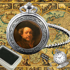 REMBRANDT DUTCH PAINTER QUARTZ POCKET WATCH GIFT