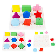 Kids Baby Wooden Puzzle Geometry Educational Toys Montessori Early Learning Toys