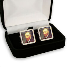 VINCENT VAN GOGH DUTCH PAINTER MEN'S CUFFLINKS GIFT ENGRAVING