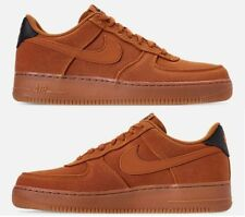 NIKE AIR FORCE 1 '07 LV8 STYLE CASUAL MEN's MONARCH - GUM MED BROWN - BLACK NEW