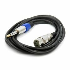 Professional Male 6.35mm to 3 Pin XLR Female Plug Stereo Jack Audio Mic Cable