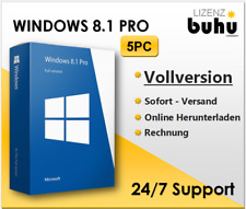 MS Windows 8.1 Professional, Win 8.1 Pro, 32&64 Bits, OEM, Produktkey per E-Mail