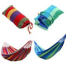 Cotton Rope Hanging Hammock Swing Camping Canvas Bed Outdoor Travel