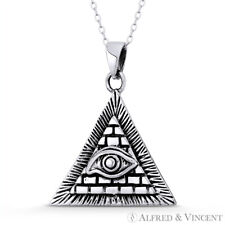 All-Seeing-Eye of God & Providence Masonic Charm Pendant in .925 Sterling Silver