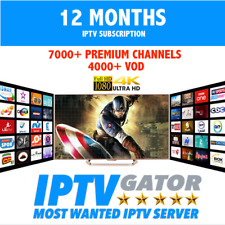 1 YEAR IPTV PREMIUM SUBSCRIPTION CHANNELS FULL HD + VOD + SERIES FOR - ALL DEVIC