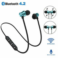 Wireless Bluetooth 4.2 Magnetic Sport Earphone Headset Stereo Headphones Earbuds