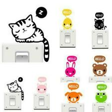 Vinyl Removable Funny Cat Switch Stickers Black Art Decal Home Decor