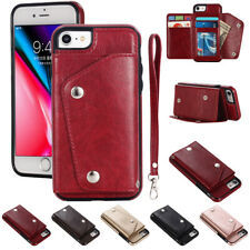 Luxury Leather Wallet Case For iPhone 8 7 Plus XR XS MAX Card Cash Storage Cover