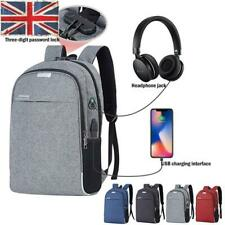 Unisex Oxford Laptop Backpack Travel Business School Bag with USB Charging Port