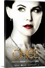Solid-Faced Canvas Print Wall Art entitled Once Upon a Time - TV Poster