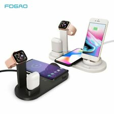 4 IN 1 Smart Charging Dock Station Stand Holder for AirPods Iphone Apple Watch