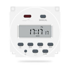 Digital Programmable Dual Outlet Electric White Plug Timer Hot