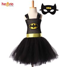 Superman Batman Girls Tutu Dress With Mask Super Hero Inspired Baby Costume