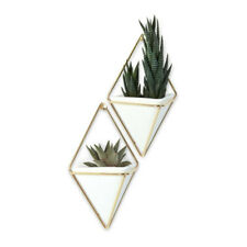 Umbra Trigg Small Hanging Planter & Geometric Wall Decor (set of 2)