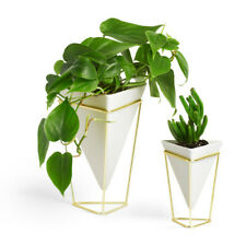 Umbra Trigg Desktop Planter Vase & Geometric Container (Set of 2)