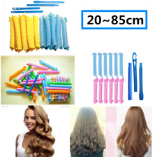 25~85 cm Magic Curlers Long Hair Spiral Curl Formers Leverage Rollers 18PCS