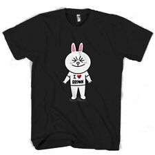 NEW BEAR AND BUNNY LINE CHARACTER COUPLE WOMEN MAN / WOMAN T-SHIRT