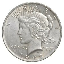 Choice AU/UNC 1923 Peace Silver Dollar - 90% Silver *249