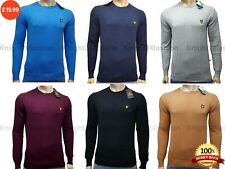 LYLE & SCOTT LONG SLEEVE CREW-NECK JUMPER FOR MEN | 100% Cotton || 6 Colour ||