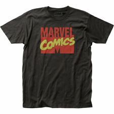 Marvel Comics Logo T Shirt Mens Licensed Marvel Superhero Avengers Movie Black
