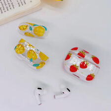 For Apple AirPods Pro fruits plastic Wireless Bluetooth Earphone Case charging