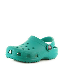 Kids Crocs Classic Teal Boys Girls Mule Clogs Sandals UK Size