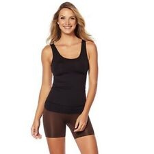 Yummie Black Seamless Shaping Shapewear Reversible Tank Top Compression NEW
