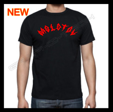 MOLOTOV BAND BLACK T-SHIRT RED CURVED DESIGN 100% COTTON NEW T-SHIRT M-L-XL
