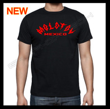 MOLOTOV BAND MEXICO BLACK T-SHIRT RED CURVED DESIGN 100% COTTON NEW T-SHIRT S-XL