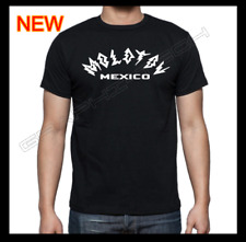 MOLOTOV BAND MEXICO BLACK T-SHIRT WHITE CURVED DESIGN 100% COTTON NEW T-SHIRT *