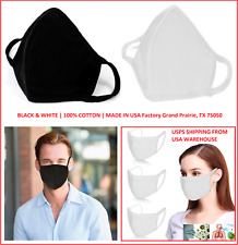 Cotton 100% Face Cover with 2-Ply Washable & Reusable Up To 30 Times Made in USA