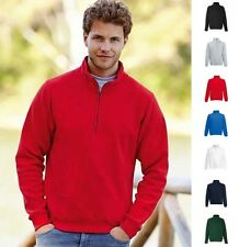 Herren Mann Sweat Sweatshirt Fruit of the loom New Zip Neck Sweat Raglan 80/20