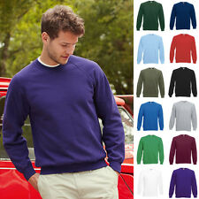 1a Herren Sweat Raglan Pullover Pulli Fruit of the loom Basic Sweatshirt 80/20