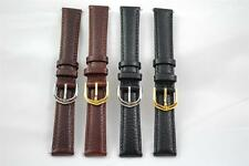 Extra Long 16mm Extra Long 18mm XL 20mm Brown or Black Leather Watch Strap, AG1