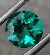 Round Bright Green Lab Created Emerald (3mm to 9mm)