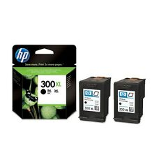 2 Genuine HP 300XL Black Ink Cartridges CC641EE for Printers inc D1650 & more