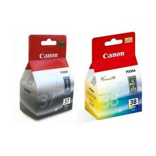 2 Genuine Canon PG-37 / CL-38 Ink Cartridges 2145B001/2146B001 for Printers