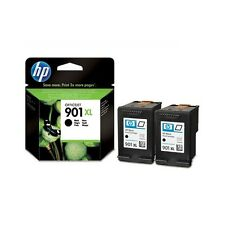 2 Genuine HP 901XL Black Ink Cartridges CC654AE for Officejet Printers