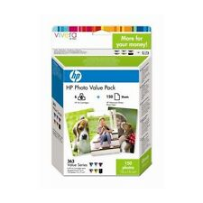 Genuine HP 363 Multipack Printer Ink + Paper Q7966EE for Photosmart C5180 &more