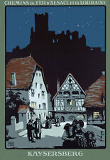 T86 Vintage France Kaysersberg French Railway Travel Poster Re-Print A4