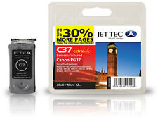 Remanufactured Jettec PG-37 Black Ink Cartridge for Canon Pixma Printers