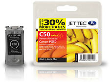 Remanufactured Jettec PG-50 Black Ink Cartridge for Canon Pixma Printers