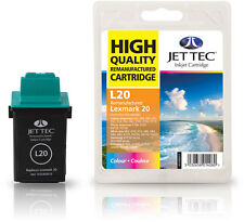 Remanufactured Jettec L20 Colour Printer Ink Cartridge for Lexmark X125 & more