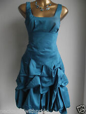 MONSOON TEAL CARMEL RUFFLE HITCHED  WEDDING PARTY COCKTAIL PROM DRESS 8 14 16 18